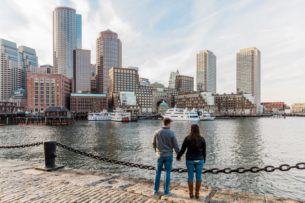 Seaport Boston Engagement Session Photos