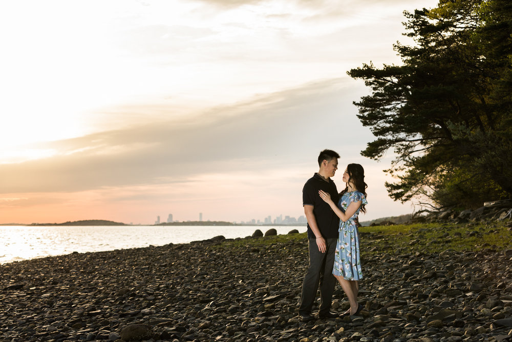 Worlds End Engagement Photos Sunset