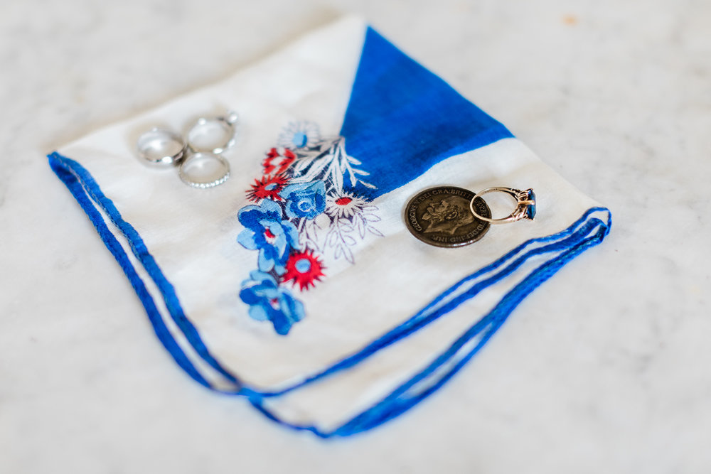 Sentimental items on handkerchief