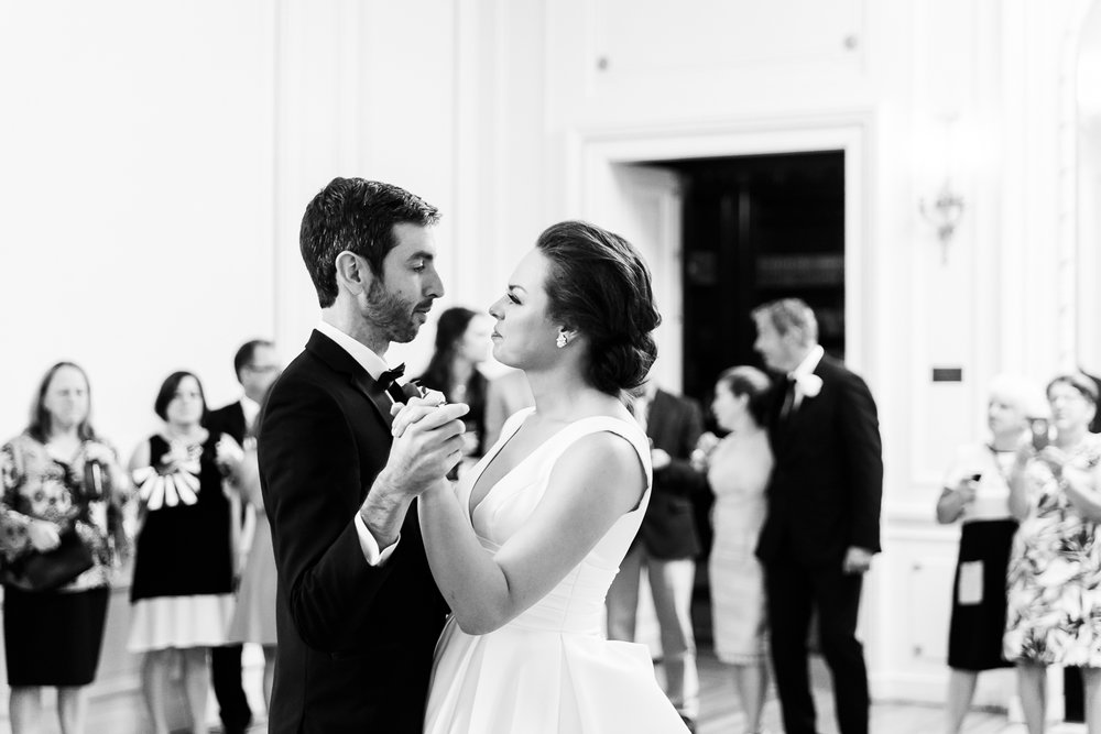 Couple first dance at Tupper Manor
