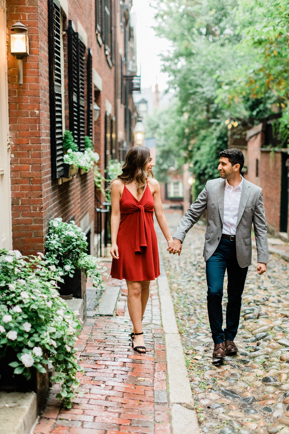 Beacon Hill Boston Engagement Session