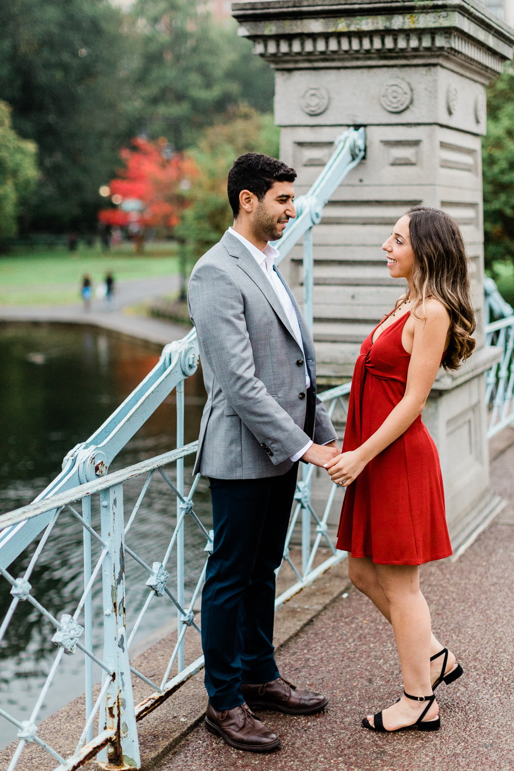 Boston Public Gardens Common Engagement Session