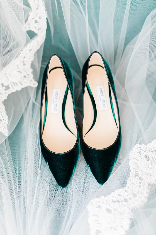 Jimmy choo emerald shoes