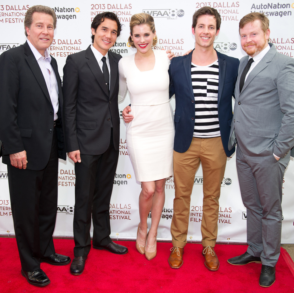Keith Buterbaugh (Talent), Scotty Crowe (Producer/Talent), Susie Abromeit (Talent), Philipp Karner (Producer/Talent) and Kristjan Thorgeirsson (Director) of DIVING NORMAL on the red carpet at The Dallas International Film Festival 2013 at the Angelika! Photo by Lindsay Jones