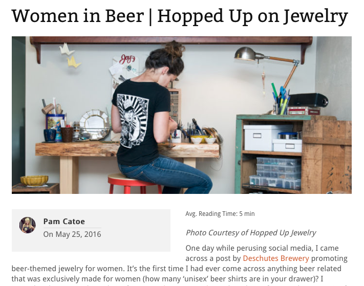 Hopped Up Jewelry // PorchDrinking.com // Women in Beer