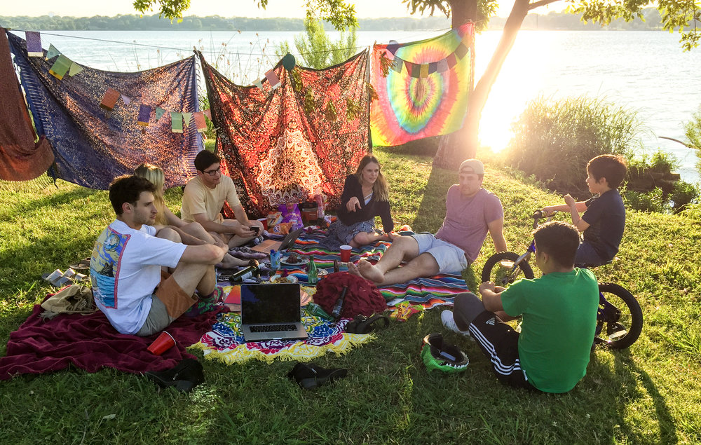Forts & Friends at White Rock Lake, Dallas.
