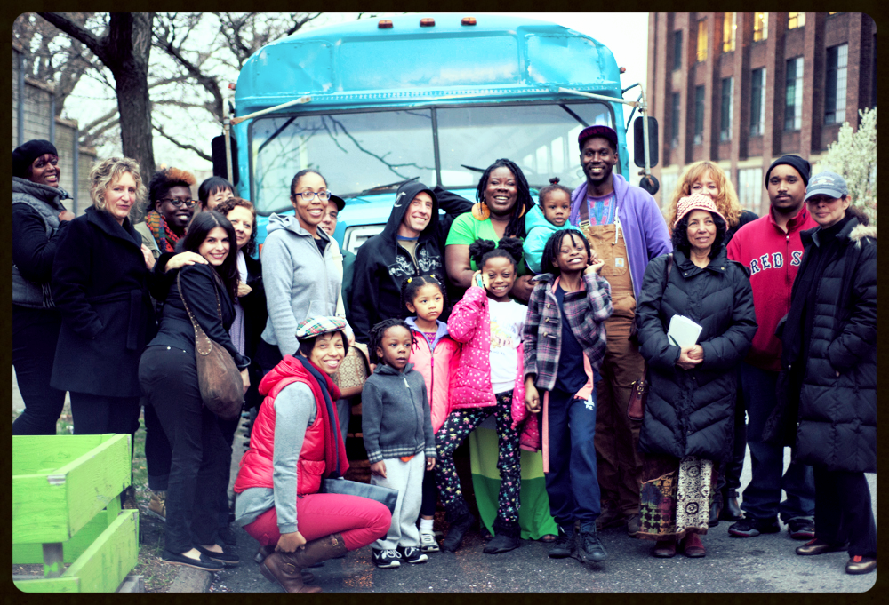 Folks came out to meet the bus and vision with us. We had a fabulous time!
