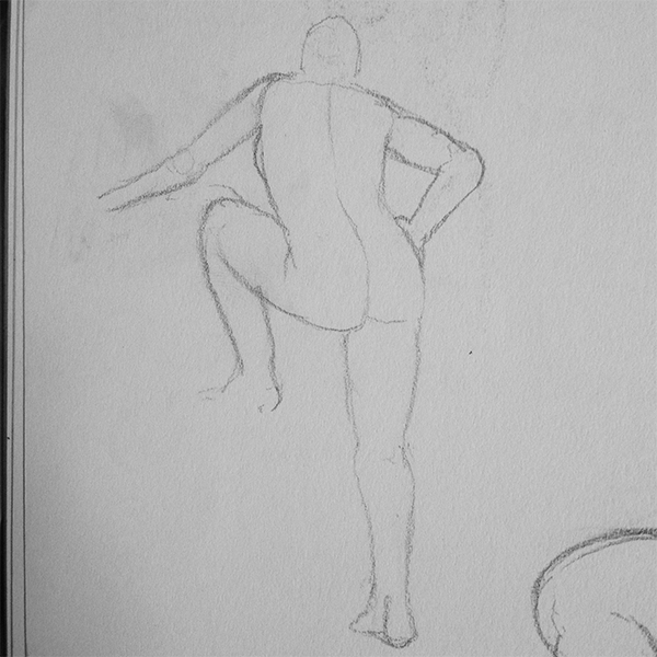 Life Drawing, think I really captured the curve of the spine
