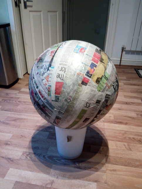 2. Cover in paper-mache