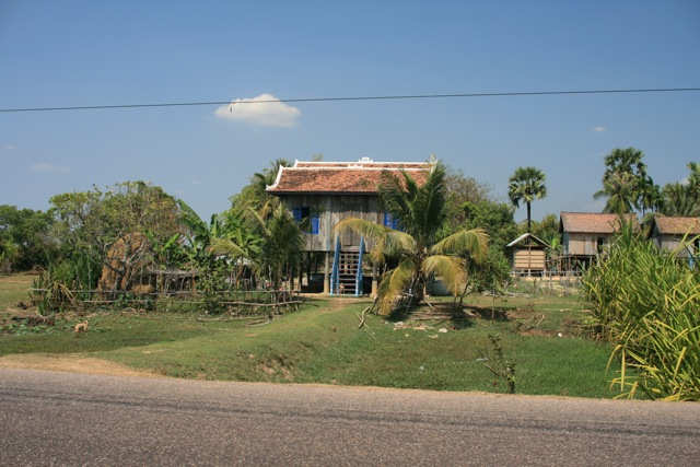House on the road (Cambodia, between Siem Reap and Phnom Penh)