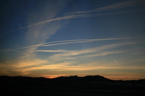 The sky in Spain