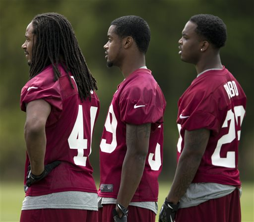 Rookies (from L to R, Phillip Thomas, David Amerson, Bacarri Rambo) will all be key contributors in the Redskins secondary in 2013.