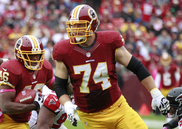 Right tackle Tyler Polumbus started 16 of 17 games last year for the Redskins