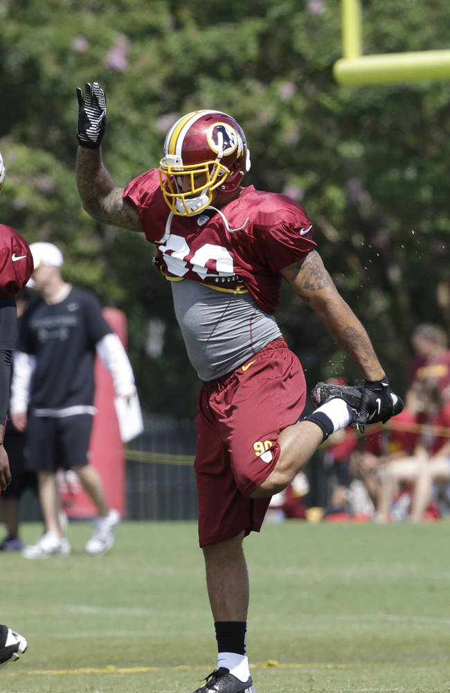 Newly signed linebacker Nick Barnett will wear # 90 for the Redskins
