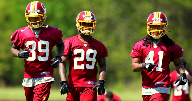Redskins rookie defensive backs (from left to right: Amerson, Rambo & Thomas) should be instant contributors in 2013