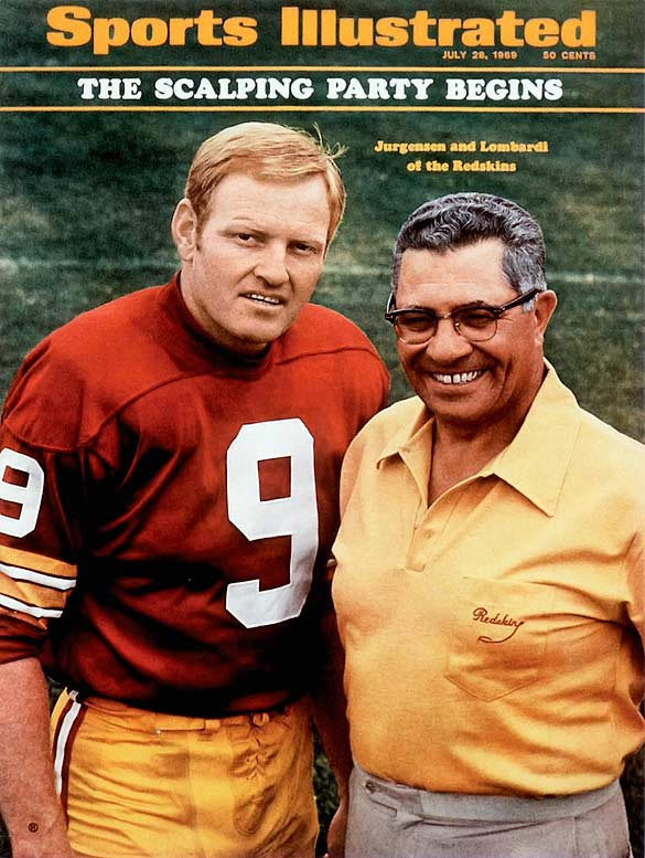 """Jurgensen is a great quarterback. He hangs in there under adverse conditions. He may be the best the league has ever seen. He is the best I have seen.""  -Vince Lombardi"