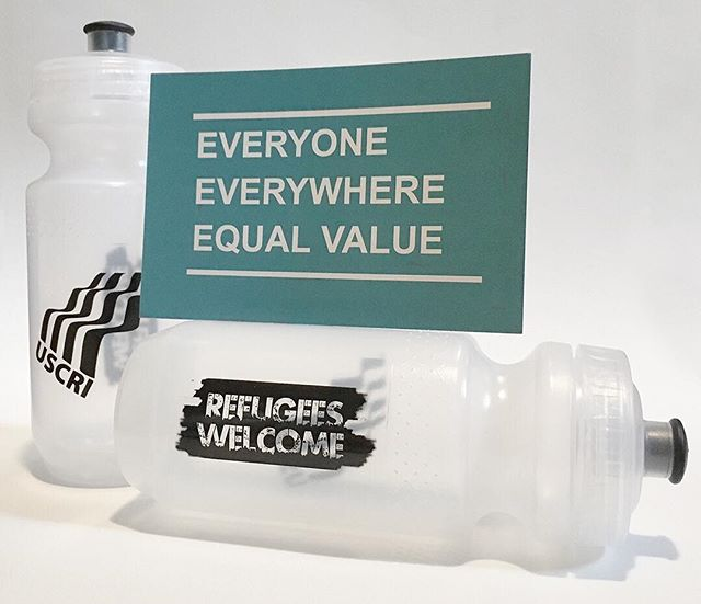 #racedayprep #levelup ! We'll now have USCRI #refugeeswelcome bottles for sale at the registration table, with all proceeds going to USCRI NC's work supporting local refugees 💙Thank you to all the racers so far contributing food and change to USCRI and @ligonpta Food Ark Jr. Y'all are crushing it and it means the world to see every dollar and can add up and go to making life just that much better for people in our community💙