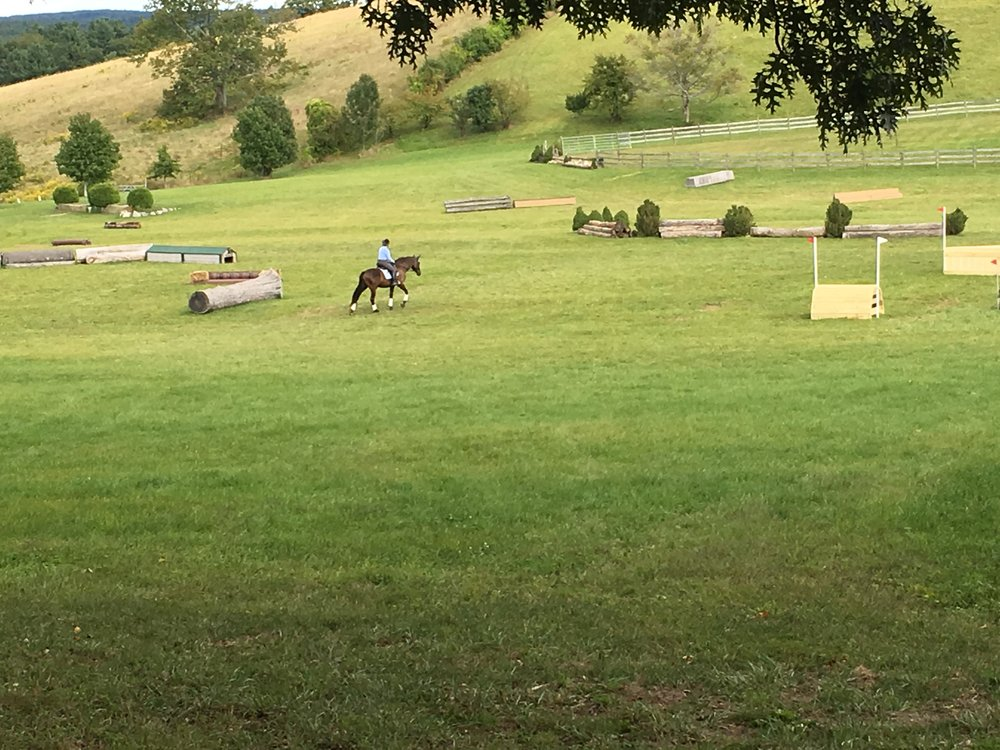 A schooling clinic at Scarlet Hill Farm.