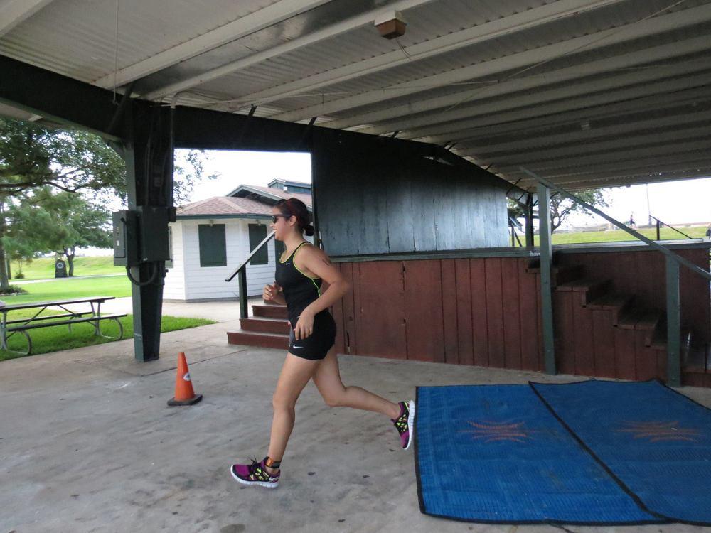 Victoria Starting Her Run