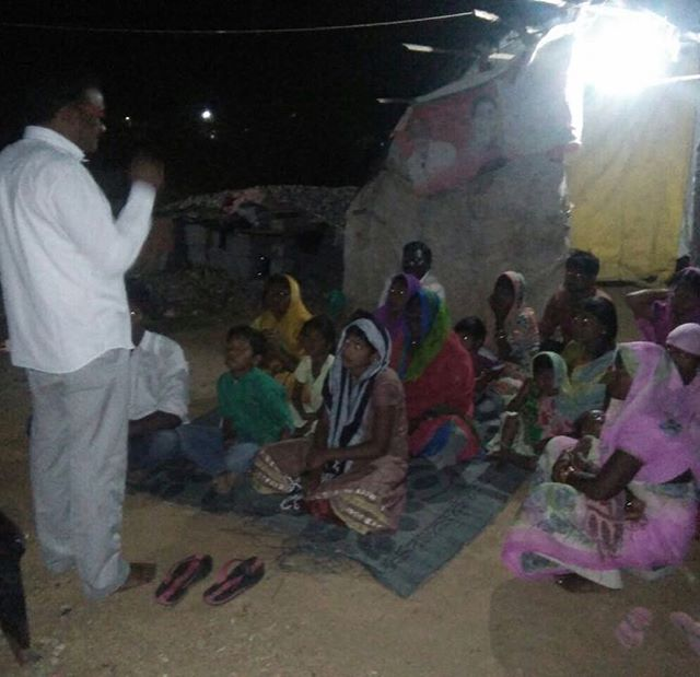 Bringing words of hope to villages in India.  I love this work.