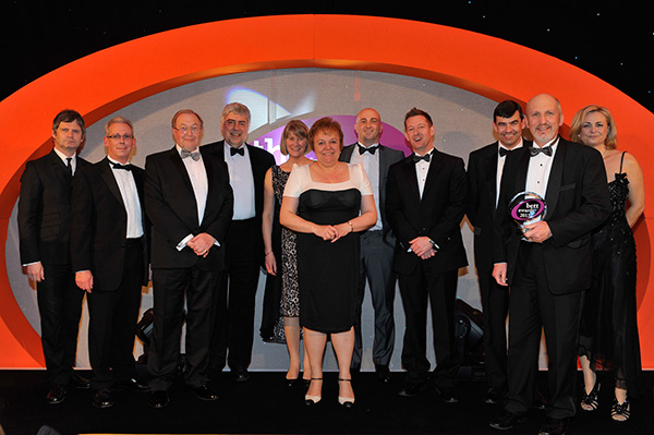 The Learning Technologies Team, and other Wolverhampton City Council representatives, at the Awards Ceremony,