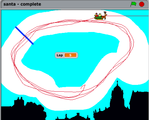 Screenshot from the completed activity