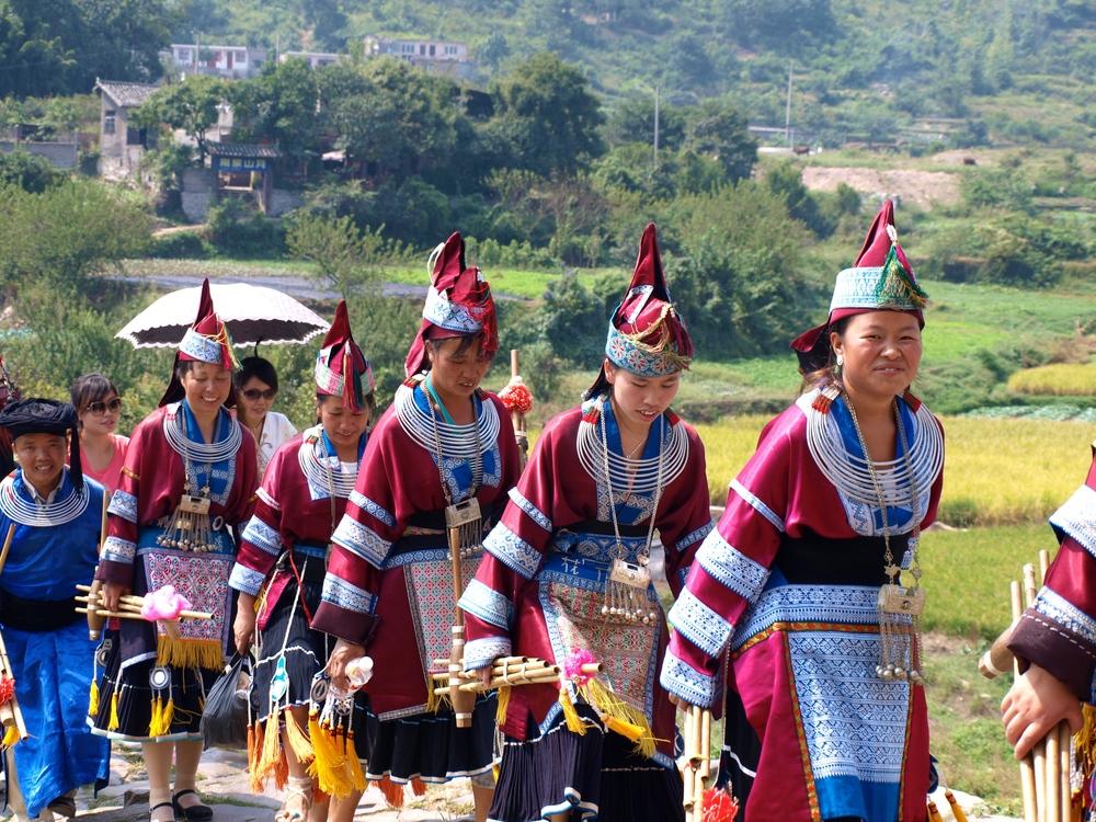 Miao Procession @ Qingman Miao Village, Guizhou.
