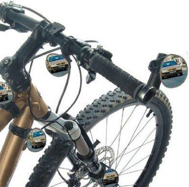 Espejos en la bici. Imagen de producto de Amazon.