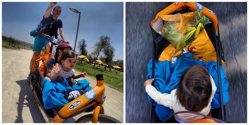 Con los hijos en el Bullitt, Santiago, Chile. Foto: Pierre Kiroule