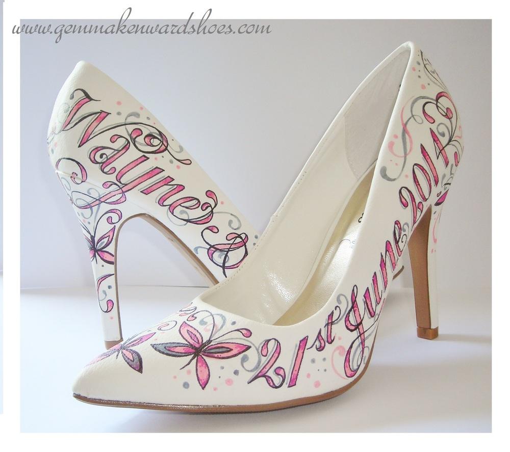 Personalised Flat Wedding Shoes