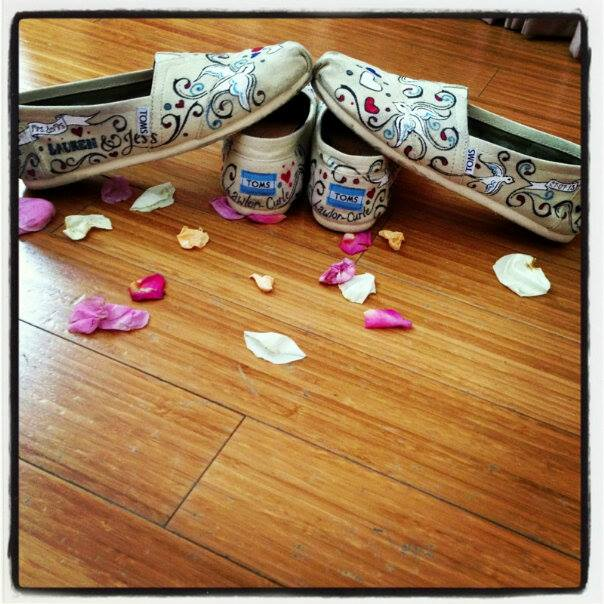 Hand painted Wedding Toms