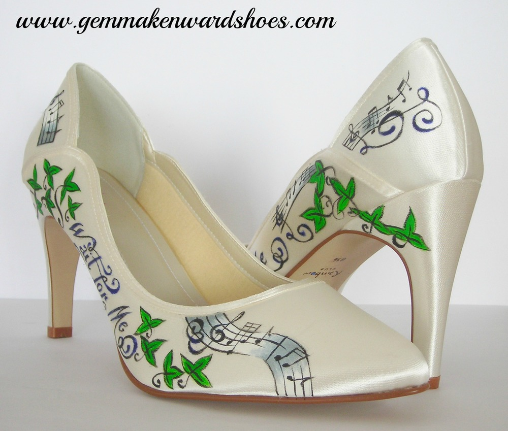 Customised Kings of Leon lyric wedding shoes