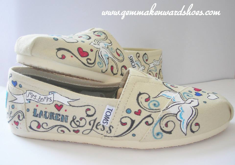 e75b4f0a9694 Personalised Wedding Toms - Flats