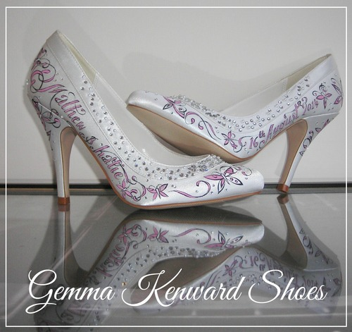 ccbb09868a4a Hand painting wedding shoes with pink butterflies is nothing out of the  ordinary for us