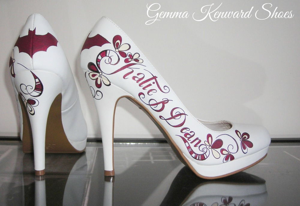 Batman shoes custom painted for a Cyprus wedding