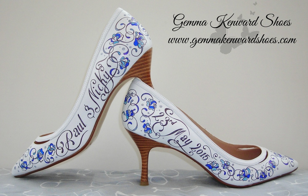 personalised hand painted wedding shoes .JPG