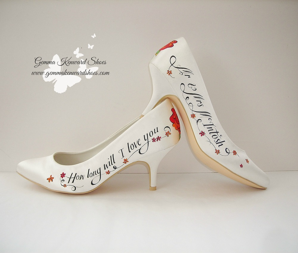 Personalised rose wedding shoes.JPG
