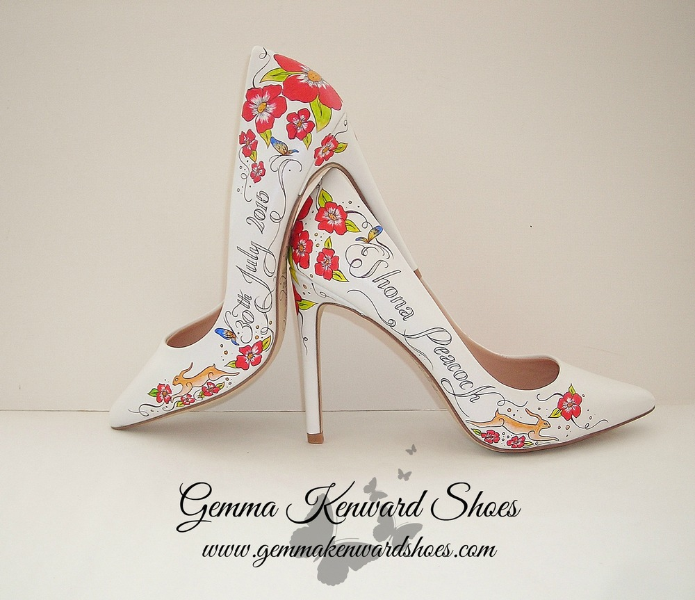 Hand painted wedding shoes with red flowers.jpg