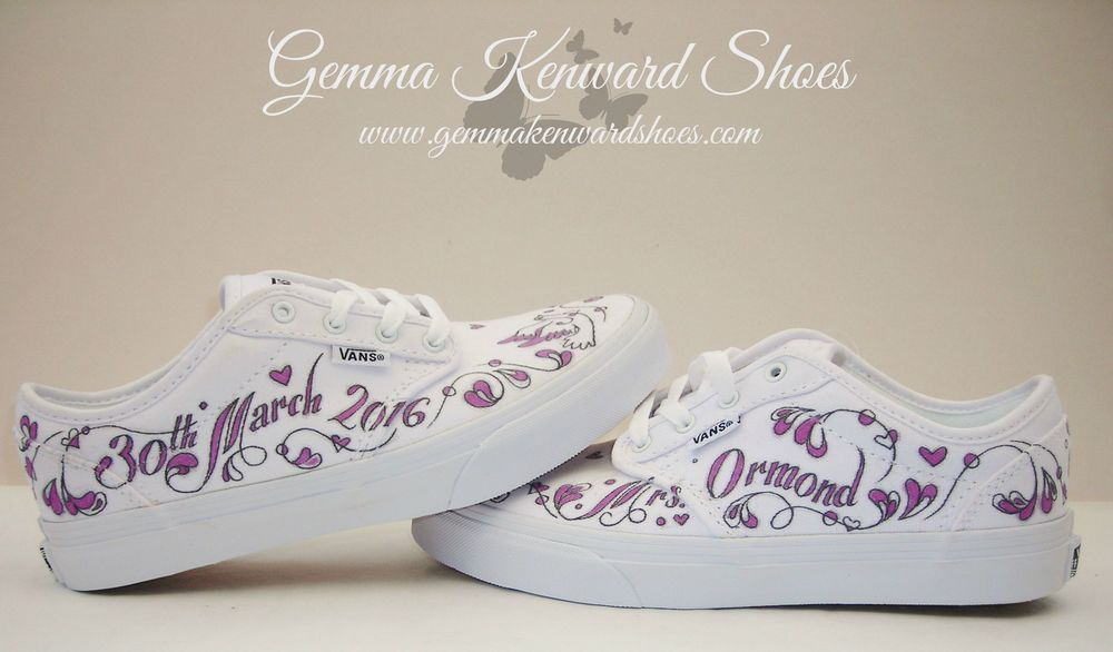 Comfy and painted wedding Vans for happy toes and souls.