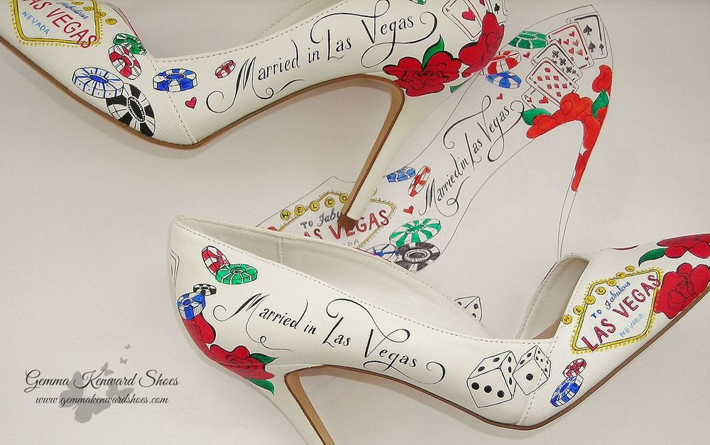 Designer Las Vegas wedding Shoes