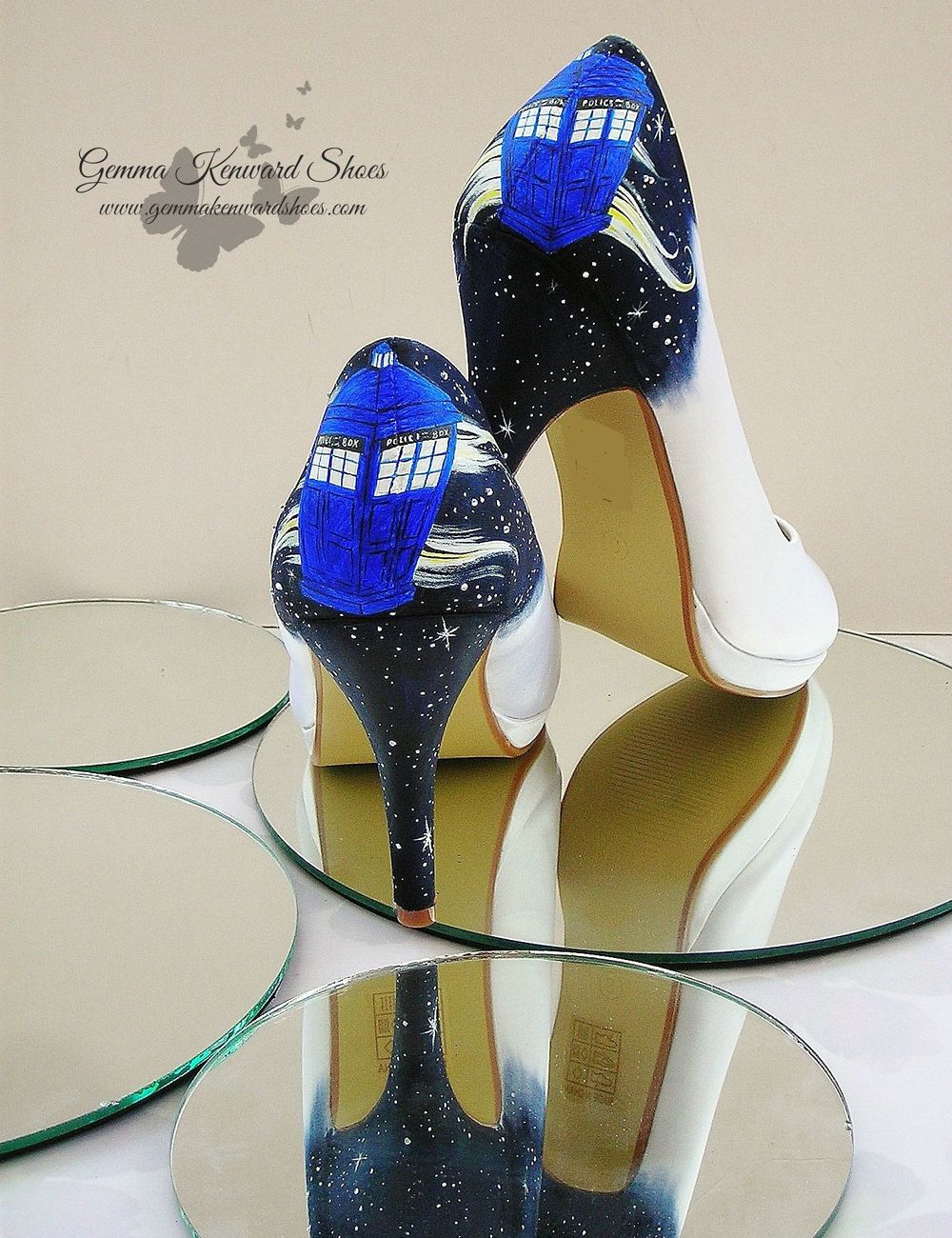 Doctor Who Wedding Shoes with a galaxy and everything!
