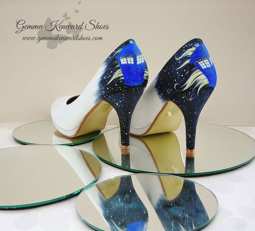 Doctor who theme wedding shoes for Doctor who themed wedding dresses