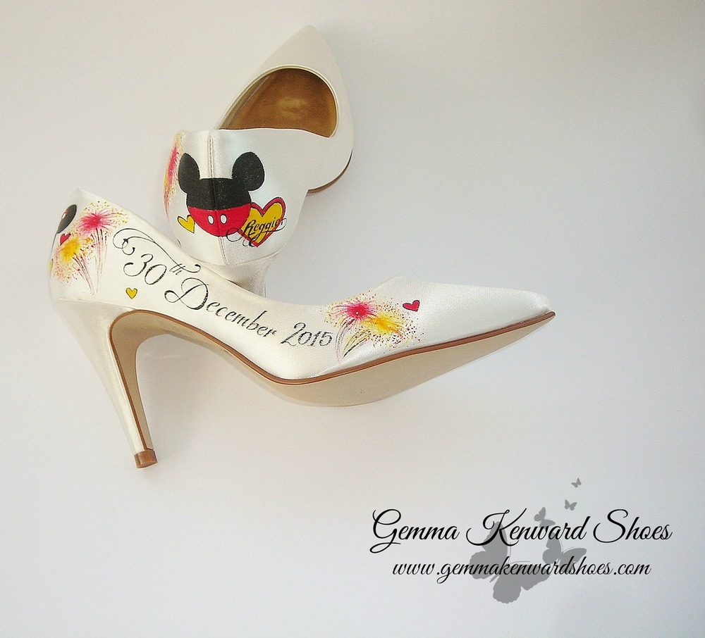 Personalised Disney Wedding Shoes