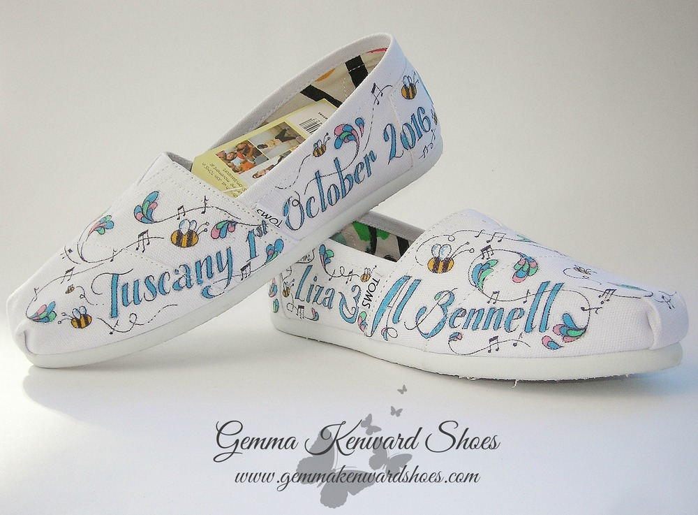Personalised Painted Wedding Toms