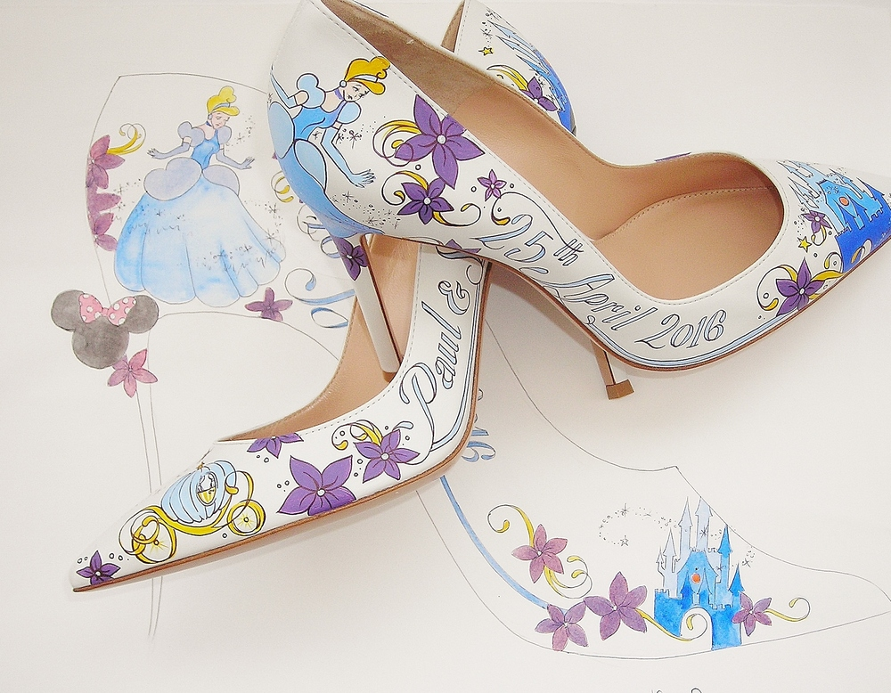 disney cinderella wedding shoes