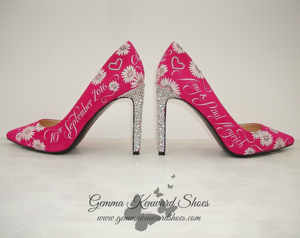 Customised Swarovski diamante wedding shoes