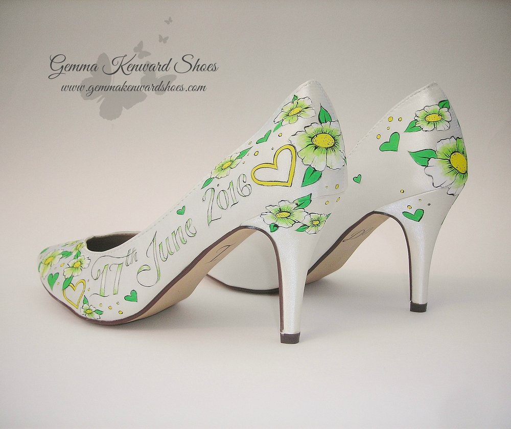 Green bridal shoes.JPG