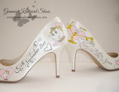 i cant wait to the share the other beauty and the beast disney wedding shoes i painted for this summer and fingers crossed they have the same success