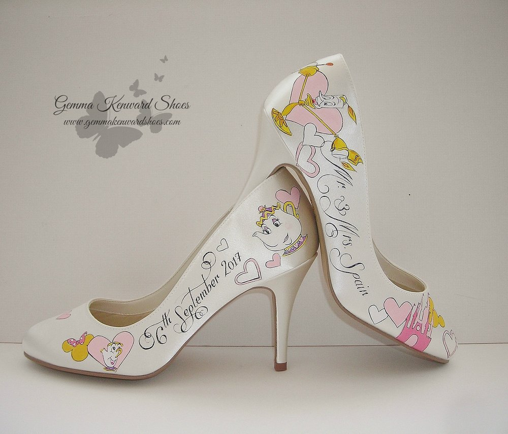 Disney hearts customised bridal shoes