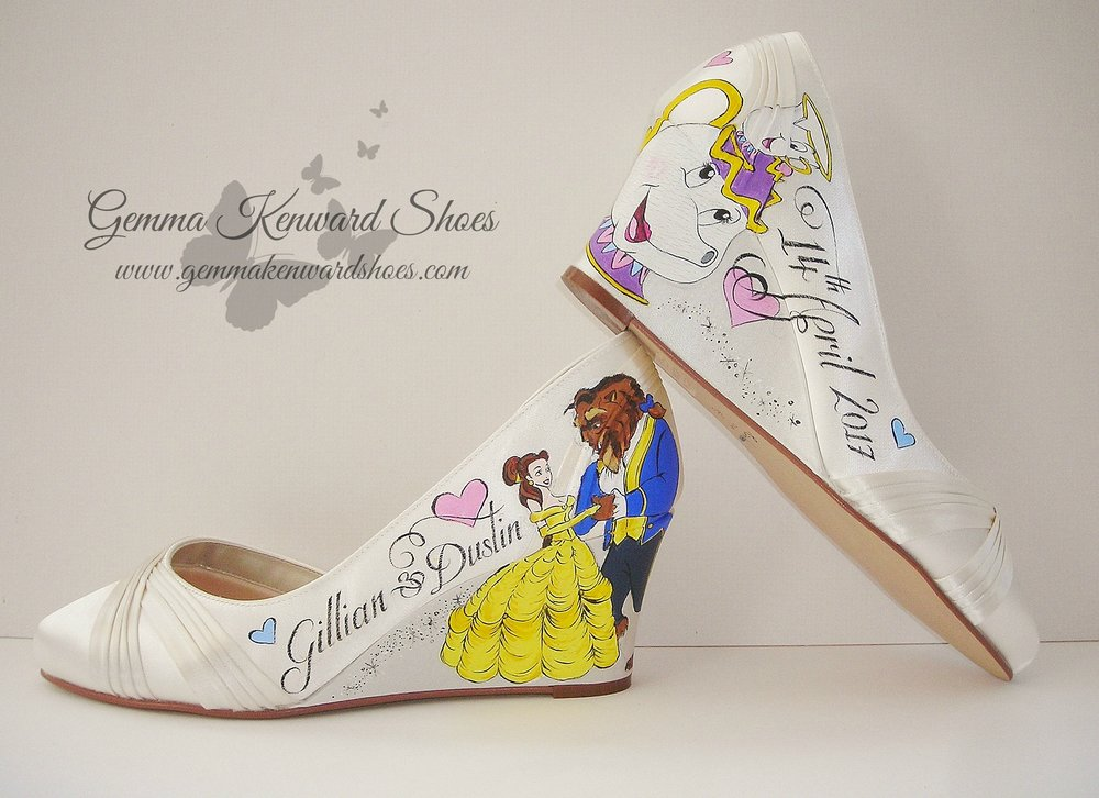Hand Painted Disney Theme wedding shoes.JPG